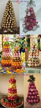 arvores-comestivel-de-natal-com-bombons-e-macarrons
