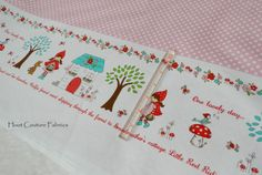 Little Red Riding Hood Border C3271 in Pink by by hootcouture, $8.47