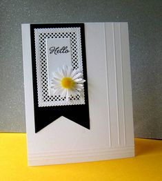 CAS485 Daisy Hello by catluvr2 - at Splitcoaststampers