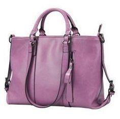 Hot !!!Fashion motorcycle bag purple leather bags wax cowhide vintage one shoulder bag work women's bag US $70.48