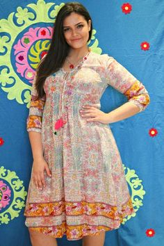 Ruby Yaya Liberty Mexican Dress - Womens Knee Length Dresses - Birdsnest Buy Online