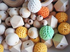 Wood Craft Beads,  DIY Teething,  Loose Wooden Beads,  Crochet Wood Beads, Wooden Teething, Natural Teething, DIY Teething Diy Teething Toys, Baby Boom, Bead Crafts, Wooden Beads, Crochet, Unique Jewelry, Natural, Handmade Gifts, Etsy