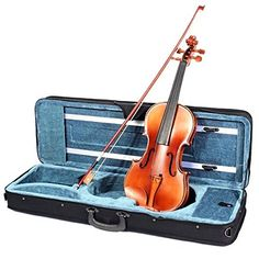 44 Handmade Spruce Violin Ebony Fingerboard with Bow Rosin Case >>> Click image for more details.(It is Amazon affiliate link) #follow