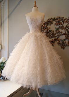 1950's Ballerina Wedding Dress