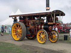 """Burrell Showmans Road Locomotive, 2894 """"Pride of Worcester"""", FK 1463 at Pickering Traction Engine Rally 2004, Image 16 - Steam Scenes"""