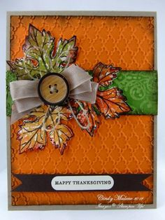 Gently Falling Thanksgiving Card...by discoverstampin - Cards and Paper Crafts at Splitcoaststampers.
