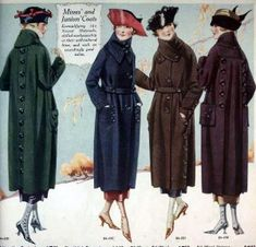 History of 1920s Coats, Furs and Capes- Women's