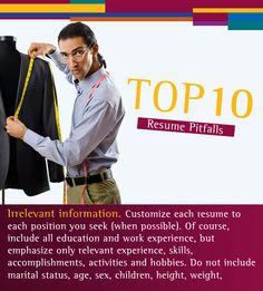 Irrelevant information. #Resume #Pitfalls