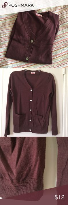 Maroon Madewell Cardigan Purchased at Madewell. Some pilling at bottom, see photos. Gorgeous buttons. Madewell Sweaters Cardigans