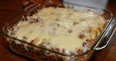 Krossa nachos i en form och häll på detta: Titta på slutresultatet! A Food, Food And Drink, Nacho Chips, Recipe For Mom, Tex Mex, Nachos, Nutella, Tapas, Macaroni And Cheese