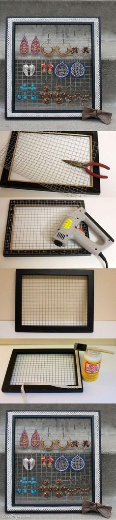 DIY Earing Organizer Pictures, Photos, and Images for Facebook, Tumblr, Pinterest, and Twitter