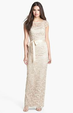 Adrianna Papell Lace Gown (Regular & Petite) | Nordstrom