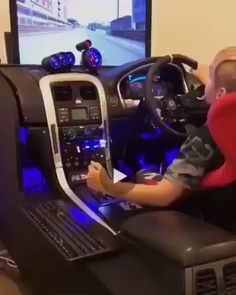 The gaming setup we needed as kids Lamborghini, Bugatti, Ferrari, Computer Gaming Room, Gaming Room Setup, Audi, Porsche, Cbx 250, Grand Theft Auto 5