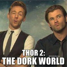 Thor 2: The Dork World Tom Hiddleston and Chris Hemsworth
