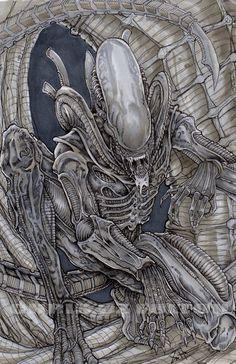 Xenomorph alien color by ChrisOzFulton on DeviantArt