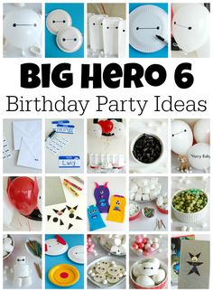 Big Hero 6 Birthday Party Ideas for Games and Crafts - maybe if he's still obsessed with this in August :)