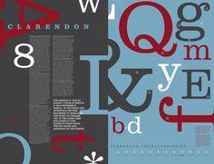 Font Study - Clarendon by Sydney Goldstein, via Behance