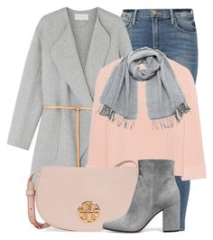 Nine Forty by monmondefou on Polyvore featuring polyvore fashion style iHeart Vanessa Bruno Frame Gianvito Rossi Tory Burch Vero Moda clothing Pink gray