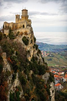 Cliff Top Castle, San Marino, Italy ᘡղbᘠ