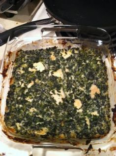 This is the best chicken & spinach casserole ever!  I found this recipe online @ 3fatchicks.com!