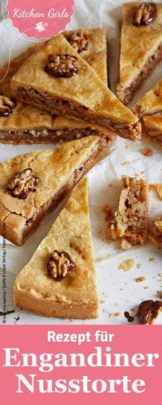 Nüsse mit Karamell und Mürbeteig vereint zu einem einzigartigen Kuchen…