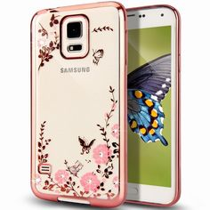 Find More Phone Bags & Cases Information about For Galaxy S5 Case Butterfly Floral Flower Crystal Rhinestone Diamond Back Plating Soft TPU Silicone Cover for Samsung Galaxy S5,High Quality rhinestone brooches and pins,China rhinestone costume Suppliers, Cheap rhinestone print from Neuss Store on Aliexpress.com