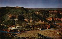 Switchbacks Through Salt River Canyon Arizona, the dreaded wintry right of passage if your heading to Sunrise ski resort!