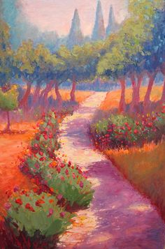 "Into Gethsemane,  (recent trip to Israel),   24"" x 36,"" Oil, $750, by Guy Jackson"