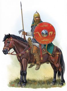 Visigothic Roman cavalryman. The quid pro quo for allowing the Goths to settle on imperial land, remain armed and to not pay Roman taxes, was that they should contribute troops to the Roman Army. From the fourth to the sixth century, this is what they did, allowing many Goths to reach senior military rank and leading to great similarity between Roman and barbarian military forces and tactics.