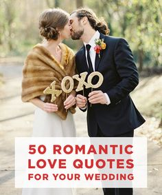 Need inspiration for vow writing? Check out some of the most romantic love quotes of all time! #LOVE