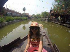 Floating market @bangkok thailand