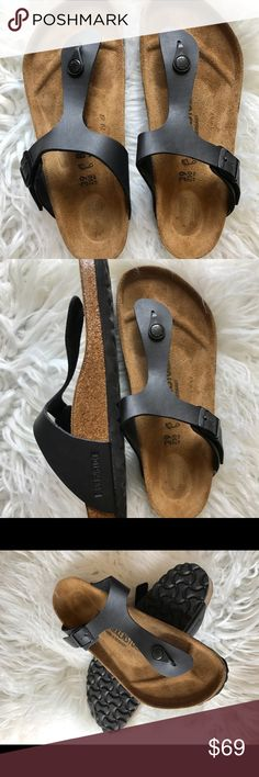 Birkenstock Gizeh 39 Store display so not perfect but in like new condition .  Size 39 regular width No returns so please know your size in Birks before ordering. I can only guarantee I will be sending the European size stated on the listing. All items are inspected throughly before shipment.  Price is Firm  Thanks Birkenstock Shoes Sandals