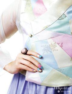 MYWEDDING 한복과 어울리는 손톱 포인트 전통의 아름다움에 물들다
