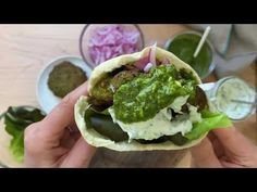 🥙🥙Broiled Falafel Burgers🥙🥙 - YouTube Falafel Burgers, Veggie Burgers, Chickpeas, Entrees, Hamburger, Fries, The Creator, Vegetarian, Herbs