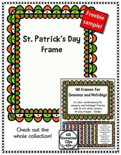 Free Clip Art Sample! St. Patrick's Day Frame