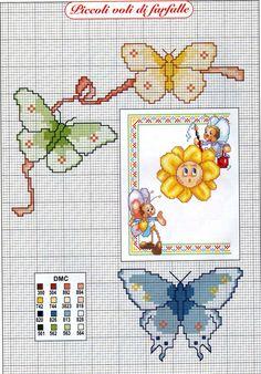 Farfalla animali punto croce