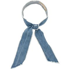DONNI Denim Gigi Scarf (321.230 IDR) ❤ liked on Polyvore featuring accessories, scarves and donni charm