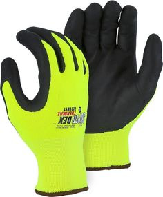Mountain Warehouse Force Mens Running Gloves Touch Fingers Hi-Vis Inserts Breathable