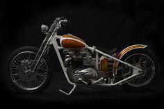 Triumph Bobber Bonneville 1969 by Origin8or #bobber #motorcycles #motos | caferacerpasion.com
