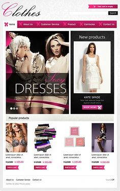 Wonderful Flash Facebook Page for Women's Clothing. #dresses #ecommerce