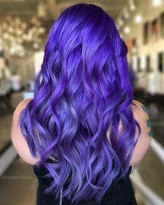 75 best hair color ideas for your inspiration Purple Hair color hair Ideas Inspiration Bright Purple Hair, Vivid Hair Color, Beautiful Hair Color, Hair Color Purple, Hair Dye Colors, Cool Hair Color, Bright Hair Colors, Bright Coloured Hair, Best Purple Hair Dye