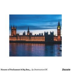 Houses of Parliament & Big Ben, London, England Gallery Wrap Canvas