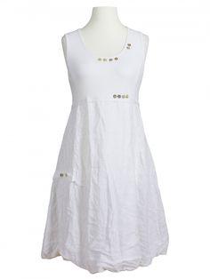 Damen Leinenkleid, weiss von RESTART bei www.meinkleidchen.de