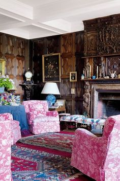 Detailed Panel Living Room - A home with a rich history and interiors that combine comfort and charm - living rooms on HOUSE by House & Garden.