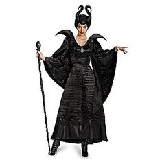 Maleficent Bustier Top Disney Villain Fancy Dress Up Halloween Adult Costume