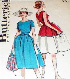 Uncut Sewing Pattern 50s Dress Full Swing by hookandneedlepattern, $38.00