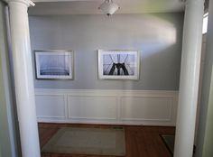 Sherwin Williams: March Wind with dark wood floors