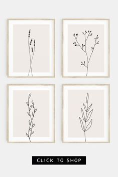 Looking for gallery wall ideas? Check out our range of gallery wall sets at Printable Zen Co today! #printablewallart #gallerywallprints Botanical Wall Art, Botanical Prints, Clipboard Art, Bohemian Wall Decor, Rustic Art, Unique Wall Art, Floral Illustrations, Minimalist Interior, Modern Bohemian