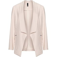 Manon Baptiste Pink Plus Size Zip pocket blazer ($240) ❤ liked on Polyvore featuring outerwear, jackets, blazers, pink, plus size, fitted jacket, fitted blazer, plus size blazers, shawl collar jacket and plus size pink jacket