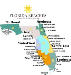 FLorida Map Of Lighthouses Lighthouses Shine Your Light On - Florida coastal cities map